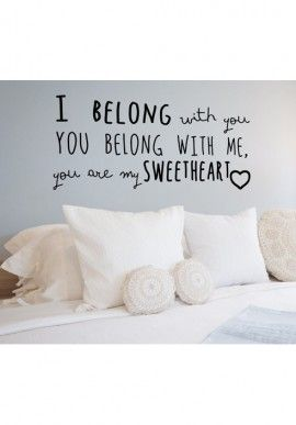 Wall sticker - Sweetheart BUY IT NOW ON www.dezzy.it!