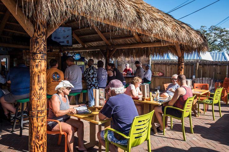 Sniki Tiki bar restaurant Siesta Key, Florida. Photo by Mary Carol Fitzgerald. Must Do Visitor Guides, MustDo.com