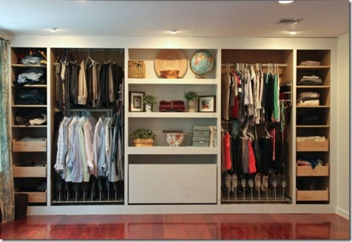 Awesome Closets for Men Shoes and Clothes in Modern Bedroom