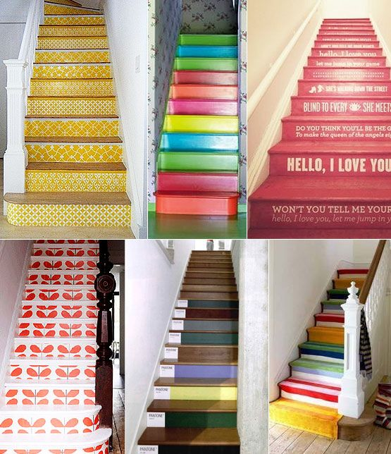 Lots of ideas for colorful stairways here! @Home Blog / Home Decor Trends That Will Lead 2012 By Storm: Part 1 by COLOURlovers :: COLOURlovers
