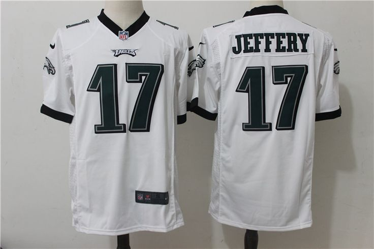 dedb35681f5 ... Nike Eagles 17 Alshon Jeffery White Game Jersey Philadelphia ...