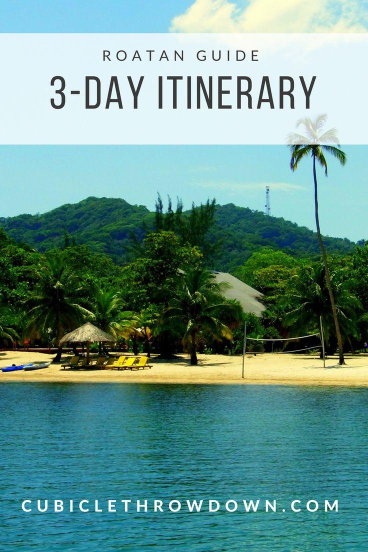 A 3-day itinerary for Roatan #honduras #caribbean #roatan