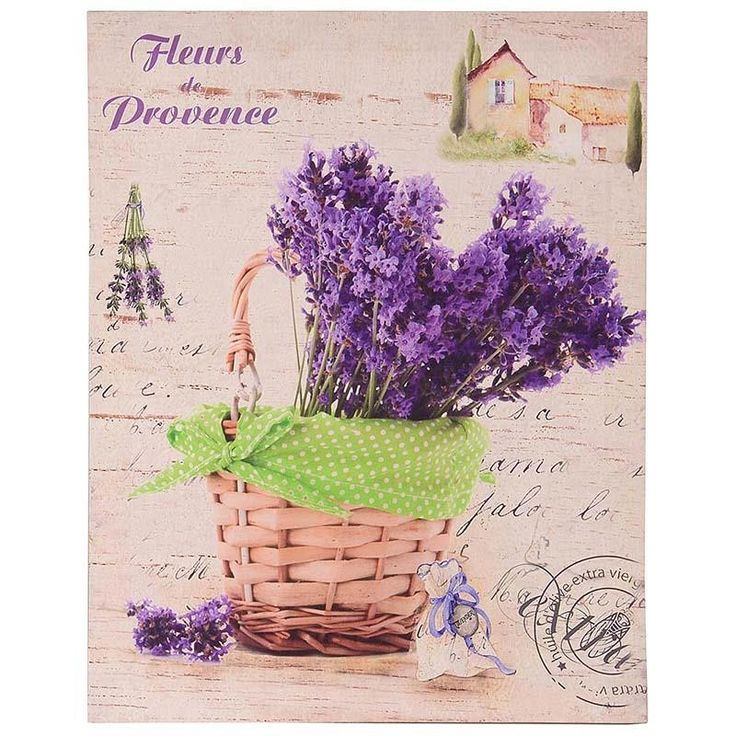 PRINTED WALL PAINTING W/LAVENDER 35X2X45 - PAINTINGS