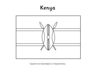 Kenya Flag Colouring Pages and other printables