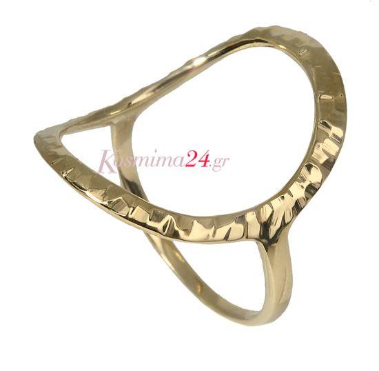 Χειροποίητο δαχτυλίδι γυναικείο σε μοντέρνο σχέδιο για να συνδυάσετε με άλλά χρυσά κοσμήματα!!! Το απόλυτο fashion statement....