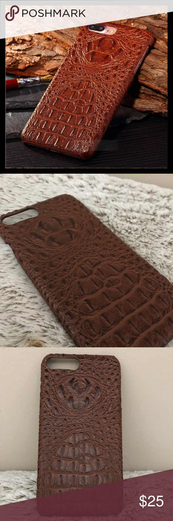 Crocodile Pattern Genuine Leather IPhone 7 Plus Cs Compatible with:iPhone 6 6S /6 Plus 6S Plus  /7 Plus Material: leather The extreme smooth of feeling will make you can't put it down Popular simple, form-fitting design Allow full access to controls and ports Impact protection and scratch resistance Bumper protects around the edges of your phone, avoid laying or falling directly on its screen iphone Accessories Phone Cases