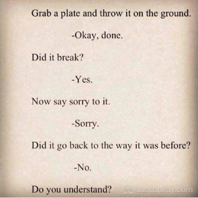 Saying sorry doesn't always fix it.