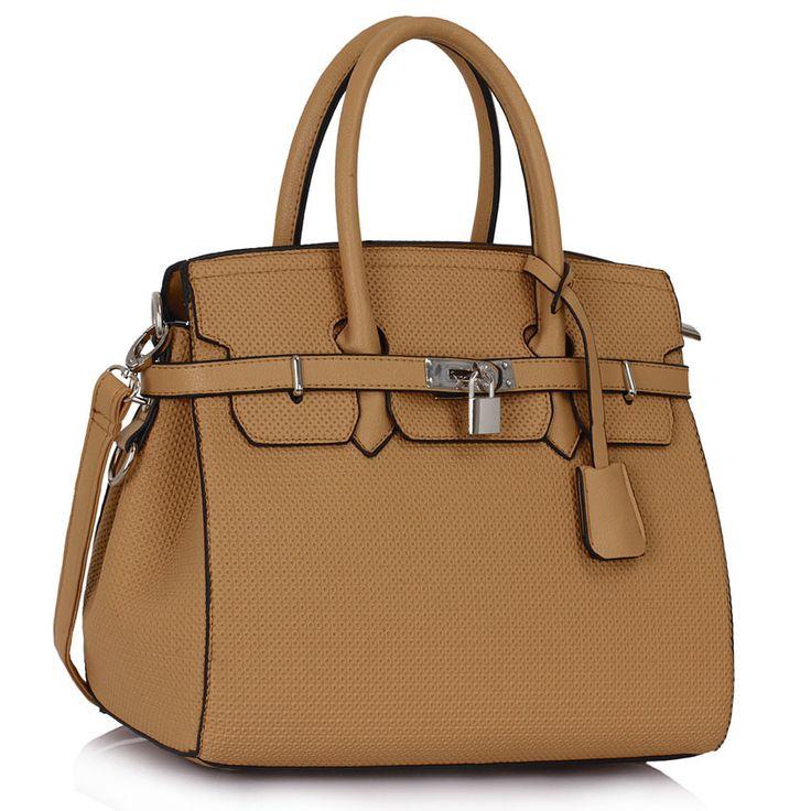 #kabelka #L&S fashion Tělová kabelka L&S fashion ve stylu Birkin (Hérmes), na zámeček. Uvnitř - kapsa na zip a dvě bez zipu.