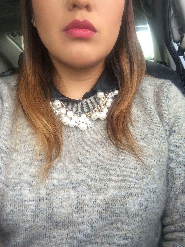 D for dangerous #mac #sweater #perlas #jewelry #necklace