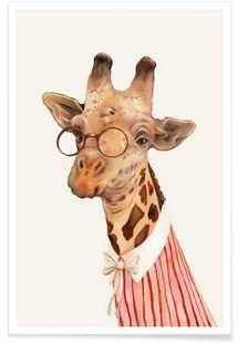 Ms Giraffe - Animal Crew - Premium poster