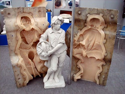 How to Make Concrete Statuary Molds: Things You'll Need are Pourable Mold Rubbers, PMC-726 and PMC790, Item To Be Cast, Leak Proof Container. Read more: http://www.ehow.com/how_2312107_make-concrete-statuary-molds.html#ixzz2g7ph6u3h Where to purchase pourable polyurethane rubber for molds ~ http://www.smooth-on.com/Urethane-Rubber-an/c6_1117/index.html