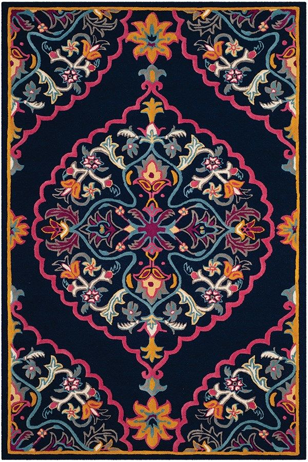 Safavieh Bellagio Blg 605 Rugs Rugs Direct Navy Blue Area Rug Navy Area Rug Hand Tufted Rugs