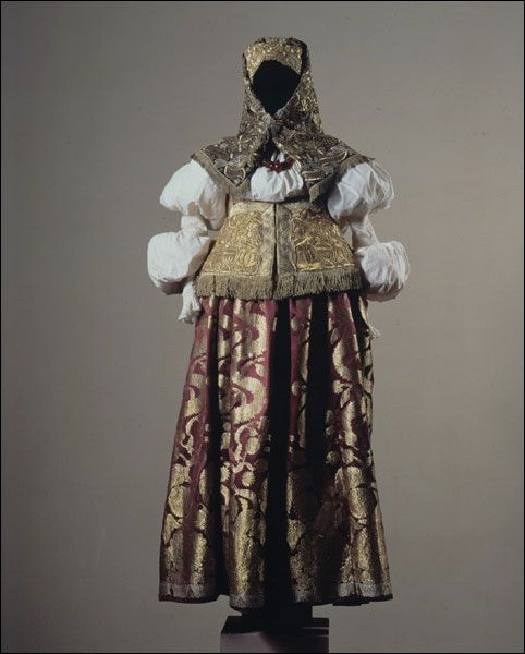 Costume of a married woman. Russians. Nizhni Novgorod Province. 19th century