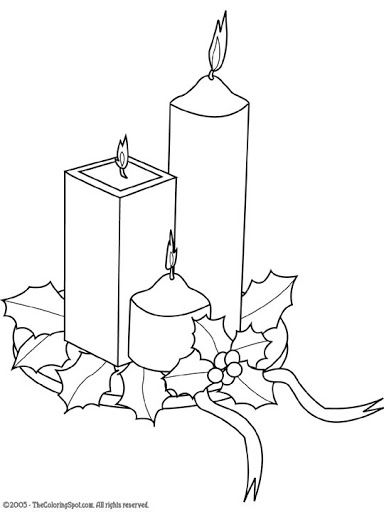 Christmas Candles Decorations Colors Coloring Pages Free Books Printables String Art