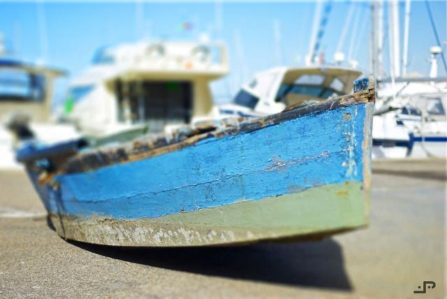 Old boat (fake) tilt-shift