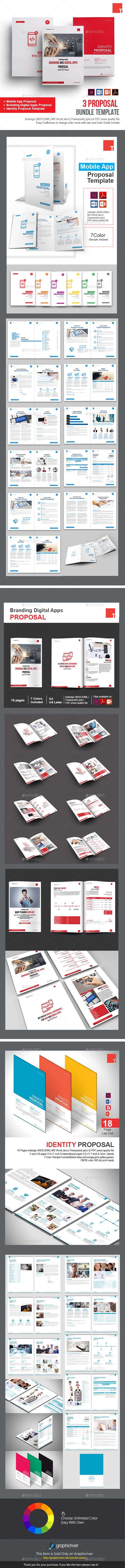 3 Proposal #Bundle Template - #Proposals & #Invoices Stationery Download here:  https://graphicriver.net/item/3-proposal-bundle-template/20474450?ref=alena994