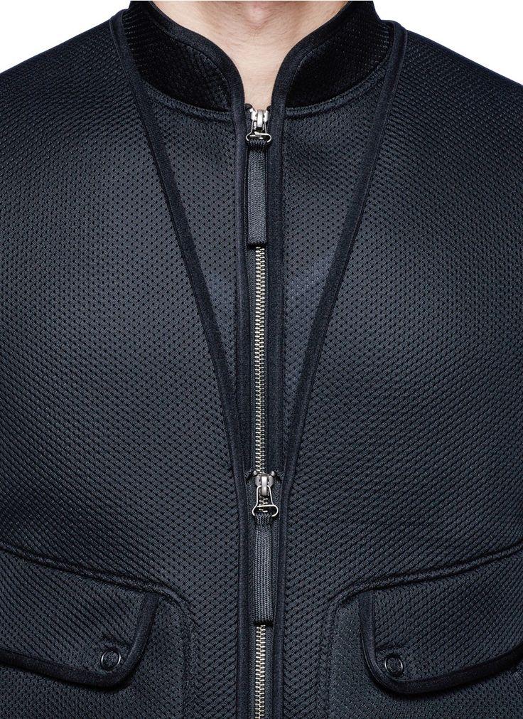 HELMUT LANG - Perforated mesh vest and jacket - on SALE | Black Casual Jackets Jackets | Menswear | Lane Crawford - Shop Designer Brands Online