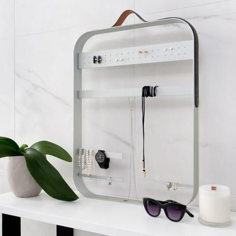H+G Designs Jewellery Display Brushed Light Silver | Simple Style Co