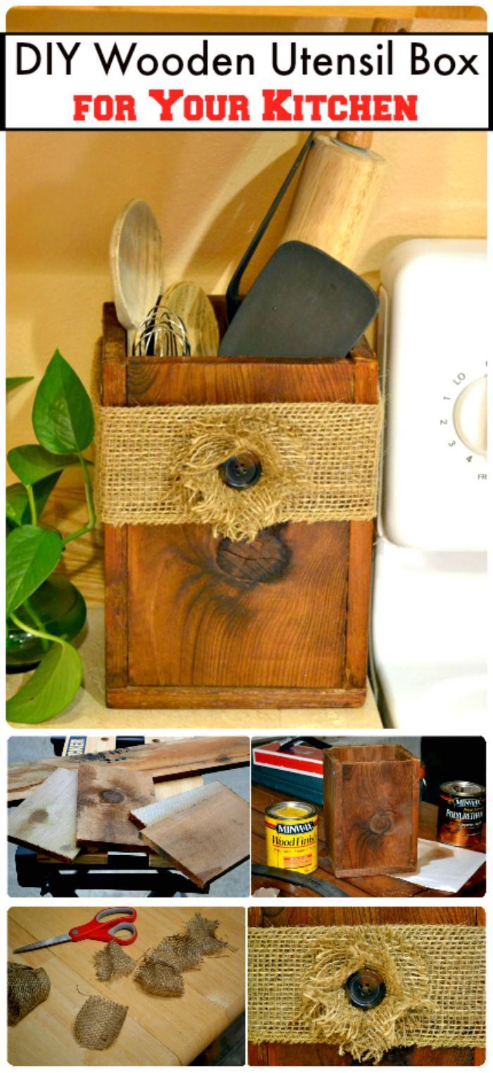 DIY Wooden Utensil Box For Your Kitchen