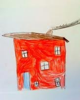 My house is red, it is a warm house with a lot of love. Abelone, 6 years