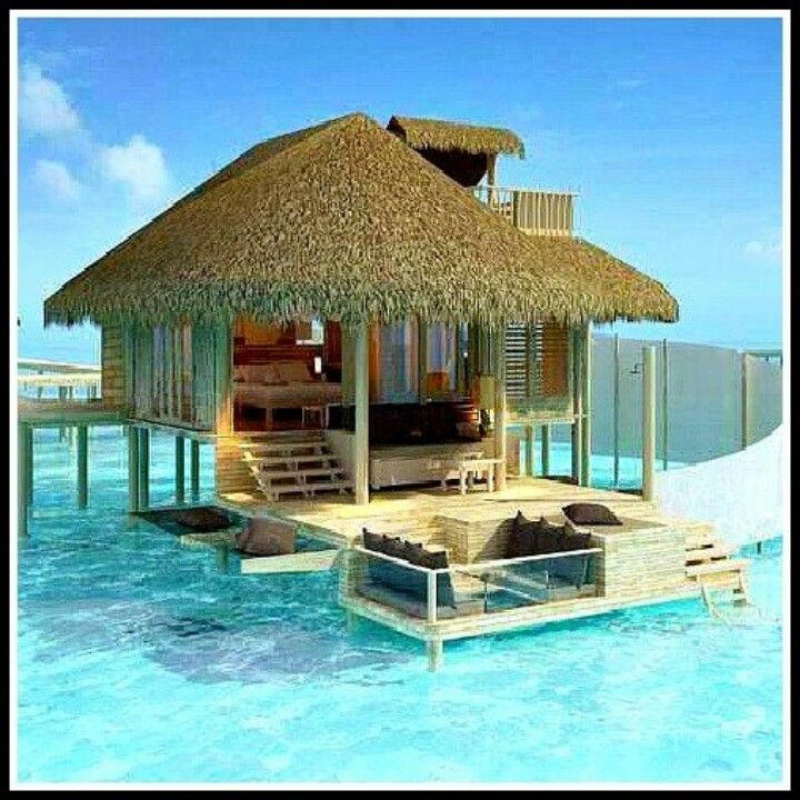 Amazing Tropical Overwater Huts Water Me Maldives Beach