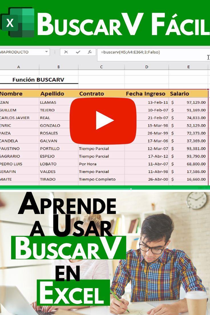 Tutorial Paso A Paso De La Función Buscarv En Excel Libros De Informatica Clases De Computacion Informatica Y Computacion