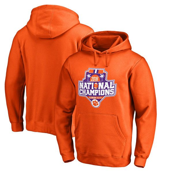 Clemson Tigers Fanatics Branded College Football Playoff 2016 National Champions Official Icon Pullover Hoodie - Orange - $54.99