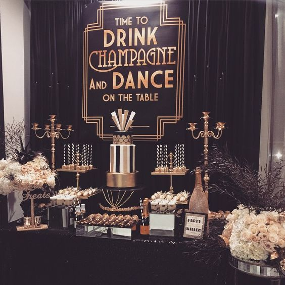 Great Gatsby Party Decorations & Ideas For A DIY Gatsby Theme Birthday