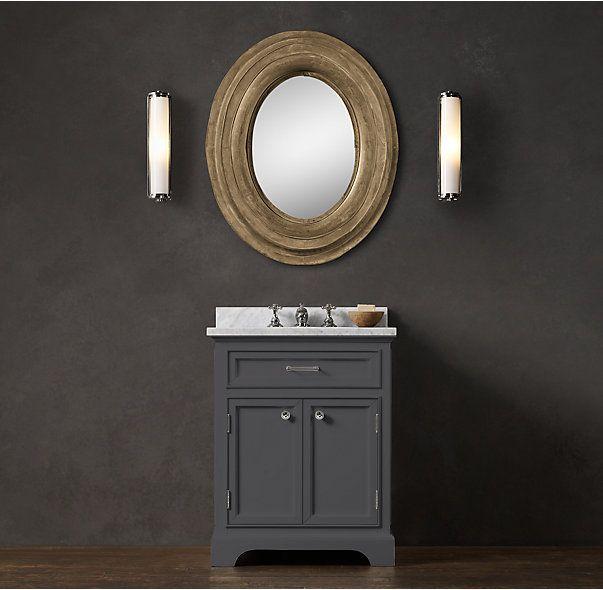 24 best powder room images on pinterest powder rooms for Powder room sink vanity
