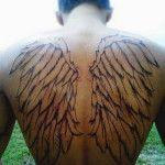 Wings Back Tattoo Ideas for Guys