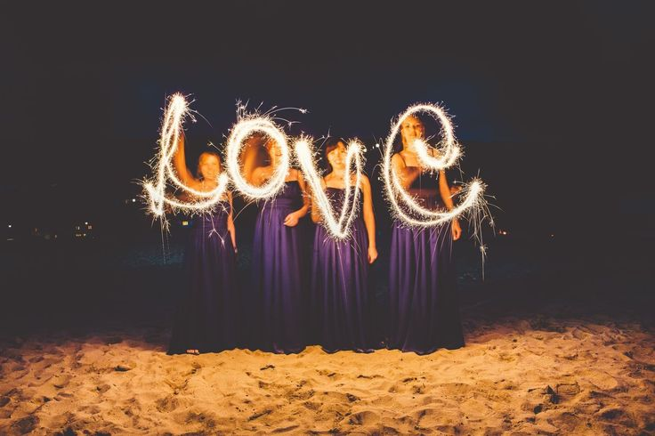 Cuties spelling out love for the bride and groom! Porthtowan Wedding Photography :)