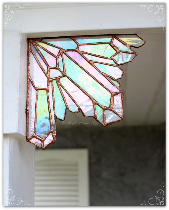 Stained Glass Crystals and Cobwebs Add a Glimmer of Fun to Plain Corners