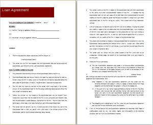 loan agreement template at freeagreementtemplates.com