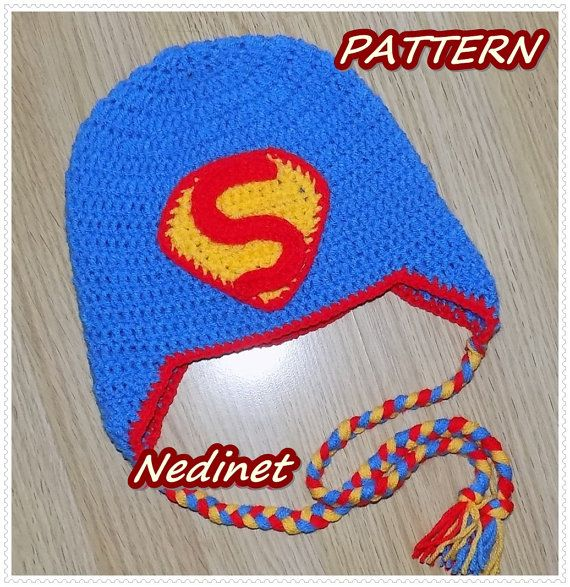 Crochet Pattern Superman crochet hat superman by NedinetCreations