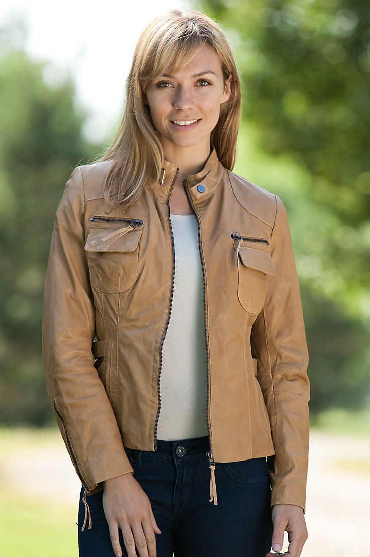 Women's Marie Lambskin Leather Jacket Overland Sheepskin