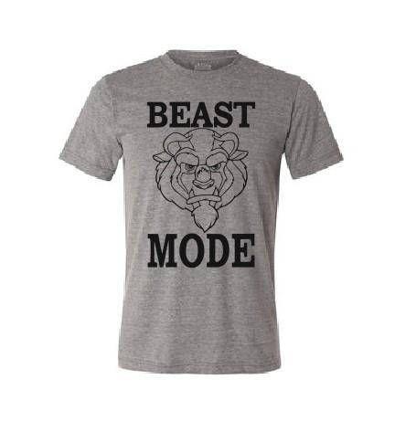 Beast Mode T shirt Beauty and the Beast Disney movie cartoon
