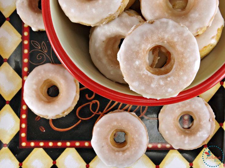 Mini Baked Donuts with Caramel Glaze image 1