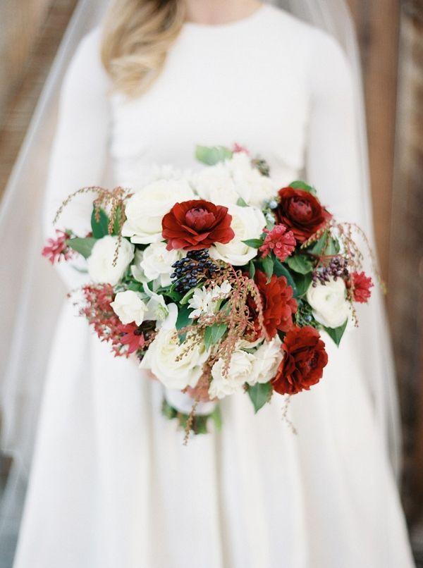 Winter bouquet    #weddings #weddingideas #aislesociety  #winterwedding