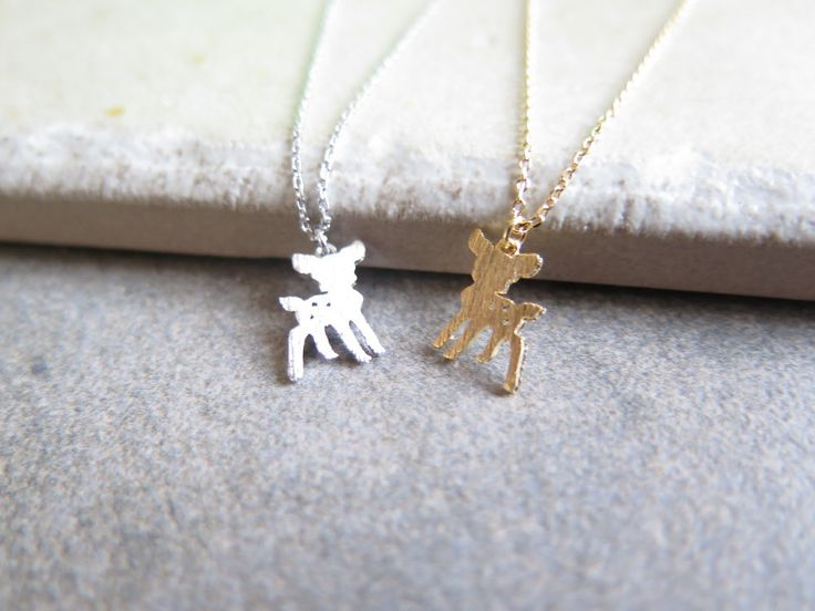 cute animal necklace/gold plated necklace/tiny Formosan necklace by thinlight on Etsy