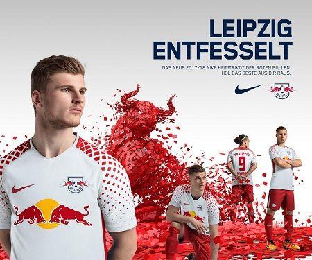 Camisas do RB Leipzig 2017-2018 Nike