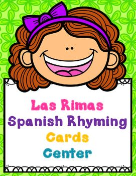 Looking for a bilingual center for your dual language classroom?  You've got a good one with these Spanish Rhyming Cards Center.  It is in both color and black and white.  There are 66 picture cards that are ideal for you to give to your bilingual pairs, you can use them in small group, use them for RTI Purposes, put them in your literacy centers, literacy work stations, use them in whole group as a game.
