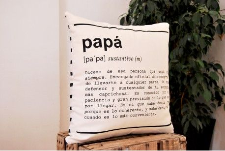 """Funda de cojín """"Papá - definición"""""""