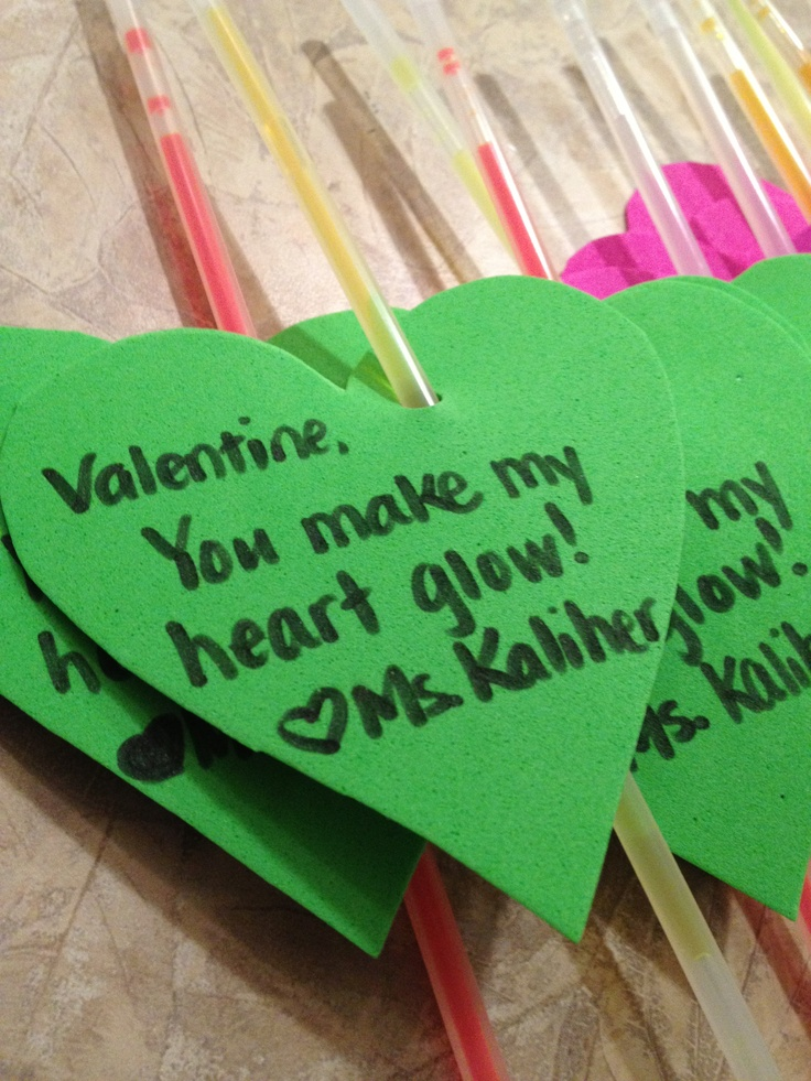 Toll Valentine Gift From Teacher To Student, Glow Sticks. A Teacheru0027s Way To  Avoid A