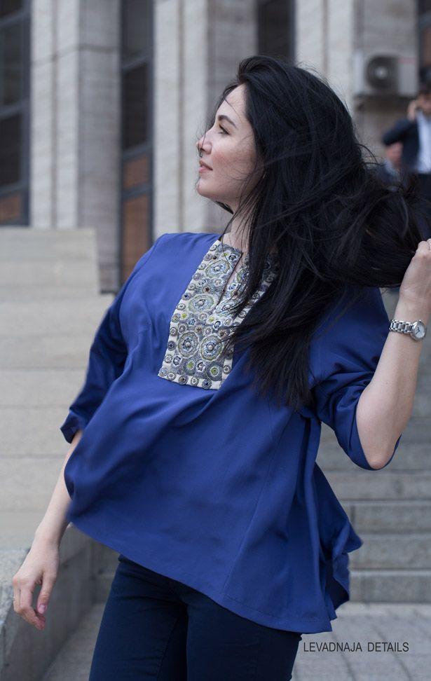 Шелковая блуза LEVADNAJA DETAILS