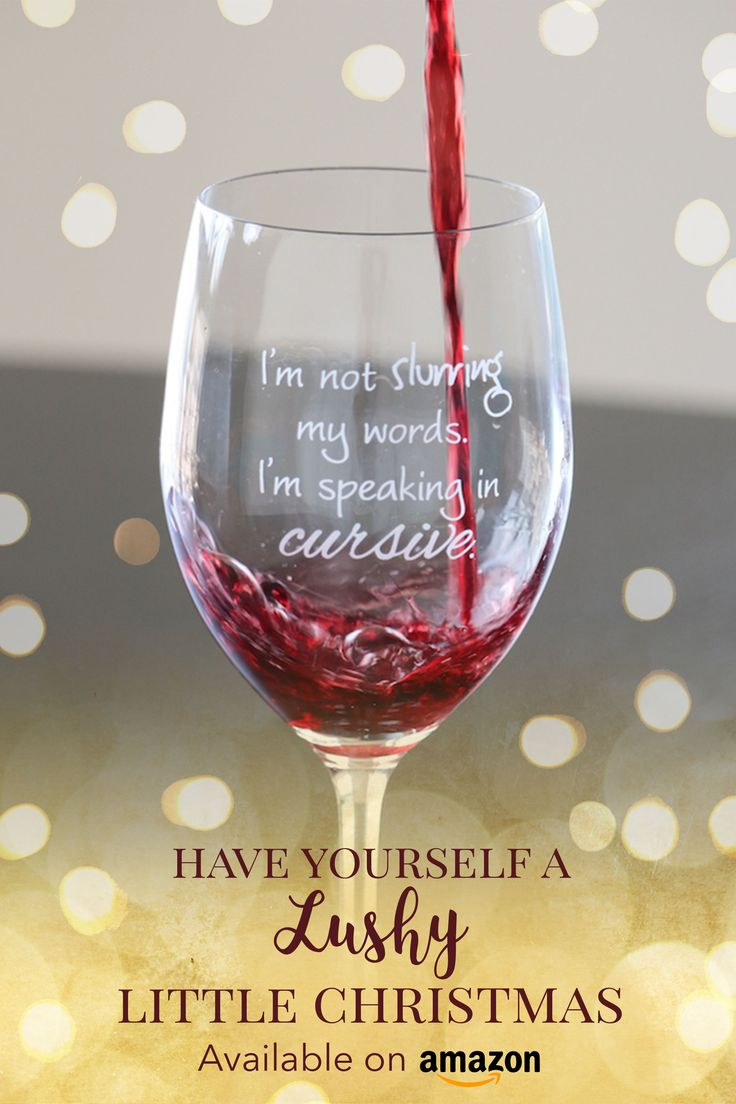 Funny & sassy wine glasses from Lushy Wino Available on