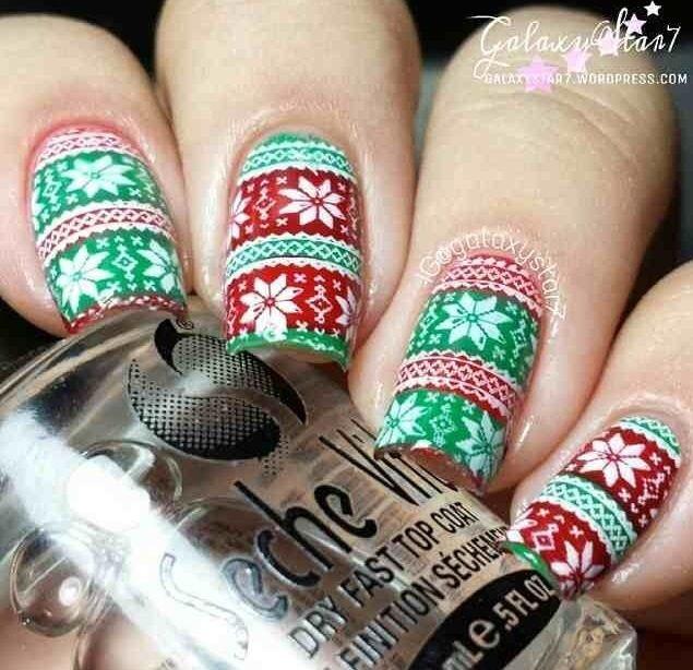 57 best Christmas Sweater Nail Art images on Pinterest   Christmas ...