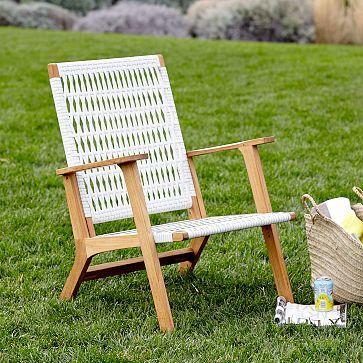 Catskill Wood + Wicker Chair #westelm
