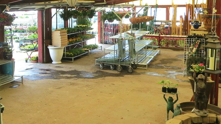 Just a little bit of redecorating at our Sprague store nursery over the last couple of weeks. New metal plant racks were set up today. What an improvement.