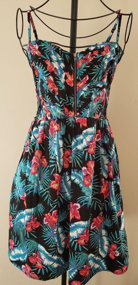 56802b0225f61 Women s ROXY Multi Colored Spaghetti Strap Zipper Front Dress Size Medium   fashion  clothing  shoes  accessories  womensclothing  dresses (ebay link)