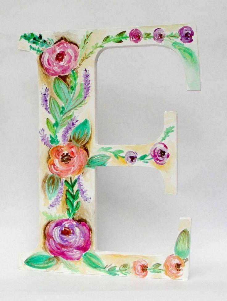 "Litere initiale decor-masa de prezidiu ""Flowers"""